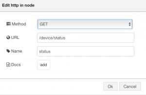 HTTP In Status Node