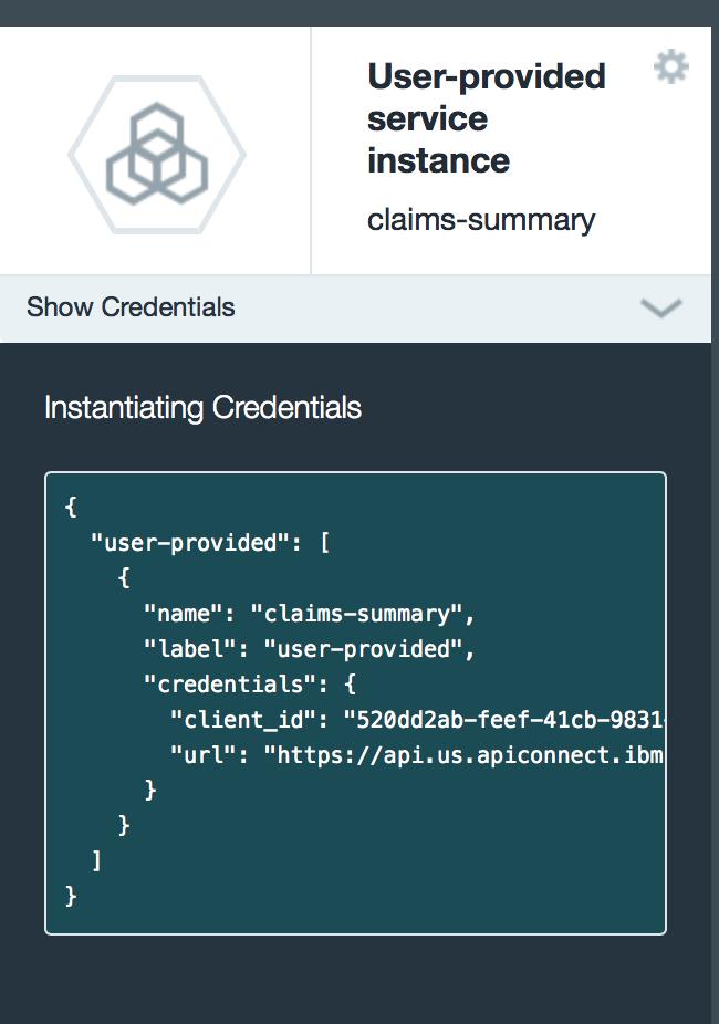 User Provided API