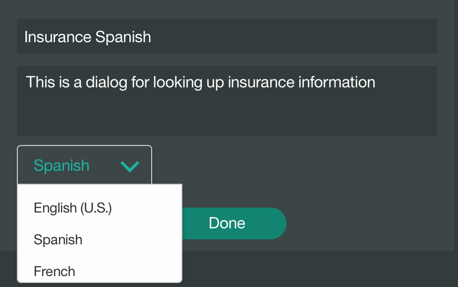 Select Watson language
